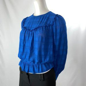Blue Highline Collective Peasant Blouse